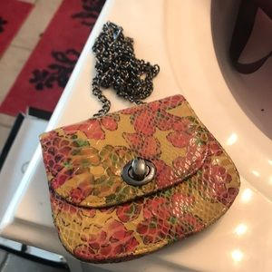 hobo international Bags - Colorful Crossbody Faux Snakeskin Mini Hobo Purse